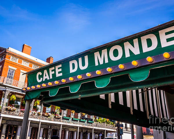 America Poster featuring the photograph Cafe Du Monde Picture In New Orleans Louisiana by Paul Velgos