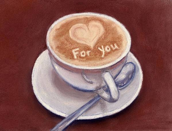 Cup Poster featuring the painting Caffe Latte by Anastasiya Malakhova