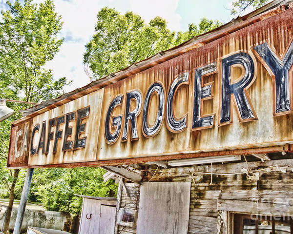 Grocery Poster featuring the photograph Caffee Grocery by Scott Pellegrin