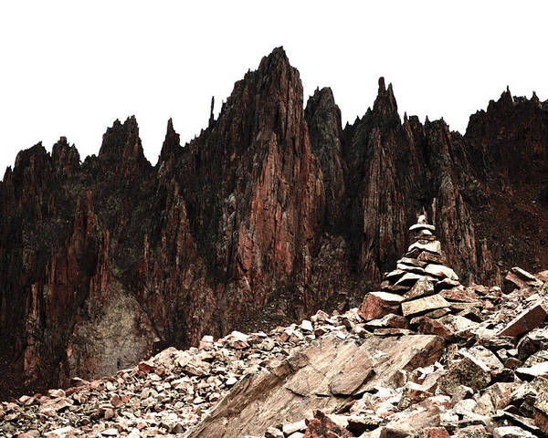 Cairn Poster featuring the photograph Cairn by Aaron Spong