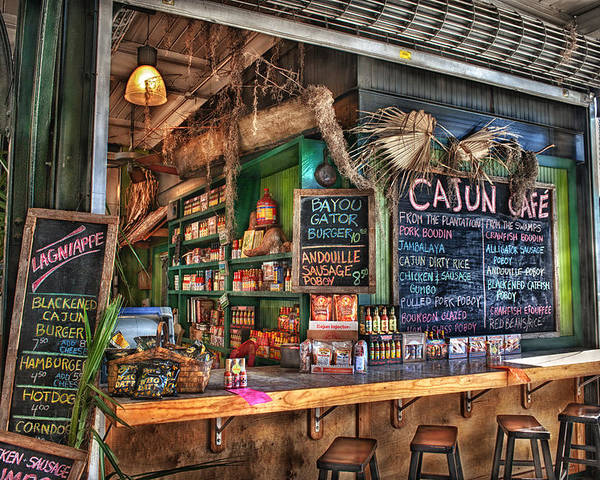 New Orleans Poster featuring the photograph Cajun Cafe by Brenda Bryant