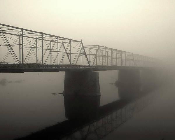 Delaware River Poster featuring the photograph Calhoun Street Bridge In Fog by Steven Richman