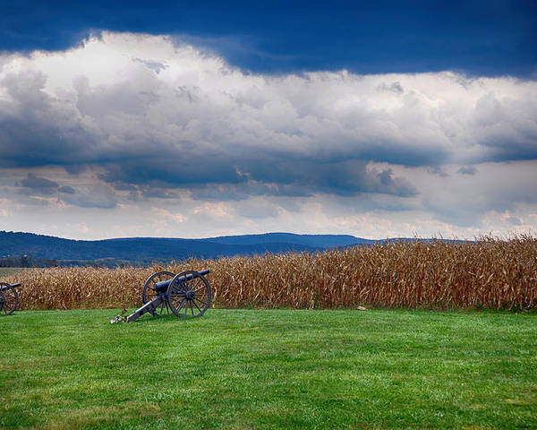 Cannon Poster featuring the photograph Calm Before The Storm 2 by Rhonda Negard