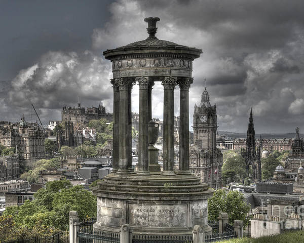 Edinburgh Poster featuring the photograph Calton Hill by Marion Galt