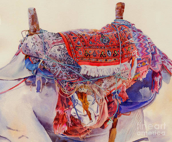 Camel Poster featuring the painting Camel Saddle by Dorothy Boyer