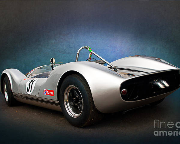 Can-am Poster featuring the photograph Can-am Mclaren M1a by Stuart Row