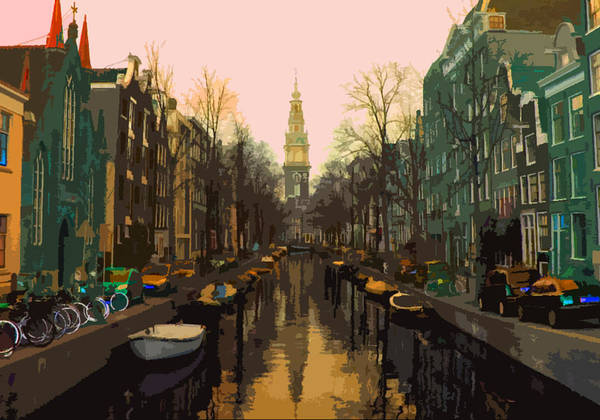 Moya Poster featuring the painting Canal by Diana Moya