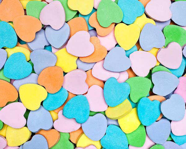 Candy Poster featuring the photograph Candy Hearts by Joe Belanger
