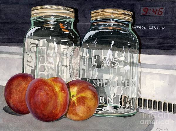 Fruit Poster featuring the painting Canning Time by Barbara Jewell