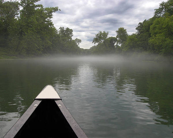 3scape Photos Poster featuring the photograph Canoeing The Ozarks by Adam Romanowicz