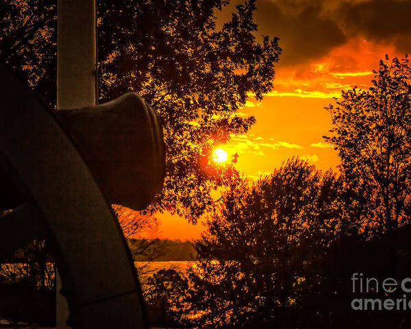 Arkansas River Poster featuring the photograph Canon Sunset by Larry McMahon