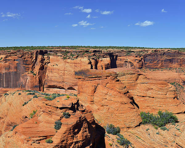 Canyon Poster featuring the photograph Canyon De Chelly From Sliding House Overlook by Christine Till