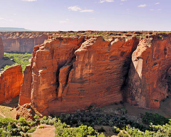 Canyon Poster featuring the photograph Canyon De Chelly - View From Sliding House Overlook by Christine Till