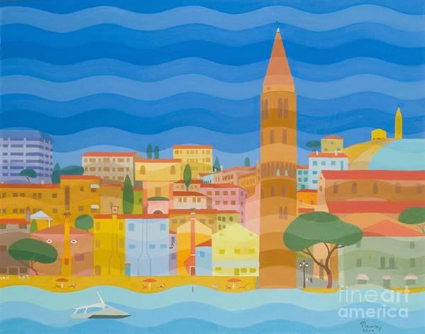 Venezia Poster featuring the painting Caorle by Emil Parrag