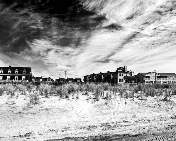 Cape May Beach Houses Poster featuring the photograph Cape May Beach Houses by John Rizzuto
