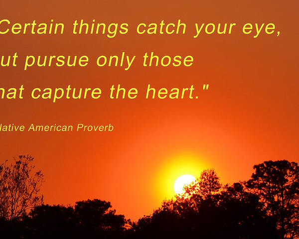 Sunset Poster featuring the photograph Capture The Heart by Beth Sawickie