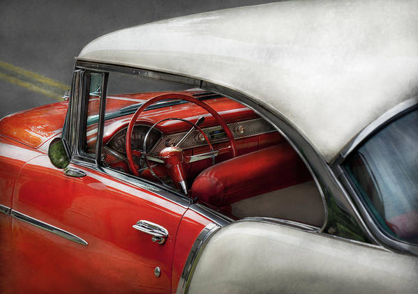 Car Poster featuring the photograph Car - Classic 50's by Mike Savad