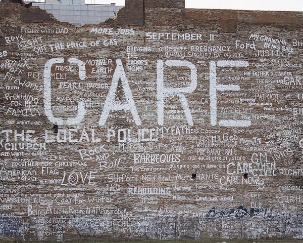 Detroit Poster featuring the photograph Care In Detroit by John McGraw