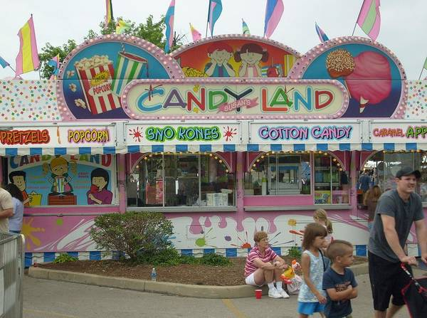 Carnival Framed Print Poster featuring the photograph Carnival Candy Land by Ann Willmore