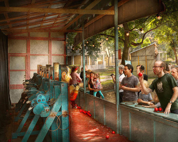 Americana Poster featuring the photograph Carnival - Game - A Game Of Skill by Mike Savad
