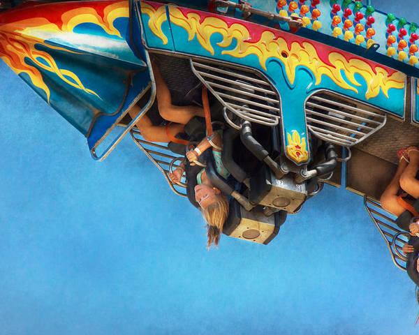 Roller Coaster Poster featuring the photograph Carnival - Ride - The Thrill Of The Carnival by Mike Savad