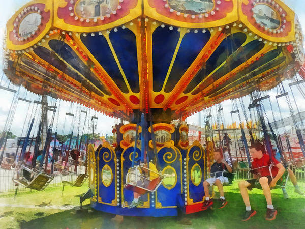 Super Swing Ride Poster featuring the photograph Carnival - Super Swing Ride by Susan Savad