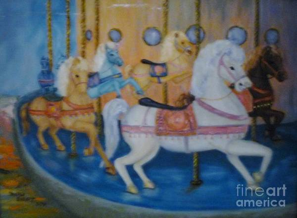 Carosel Poster featuring the painting Carosel by Beverly Hanni