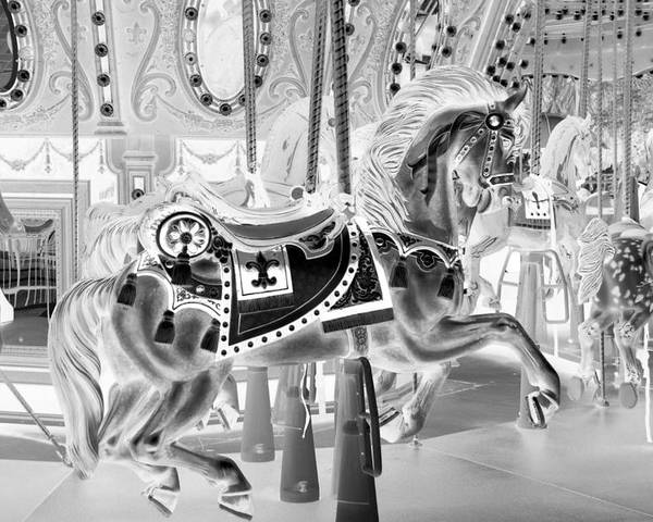 Carousel Poster featuring the photograph Carousel In Negative 3 by Rob Hans