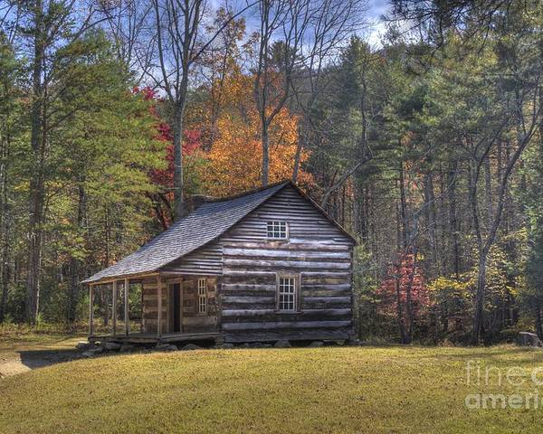 Smoky Mountain Poster featuring the photograph Carter-shields Cabin by Crystal Nederman