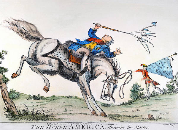 1779 Poster featuring the photograph Cartoon: Outcome, 1779 by Granger