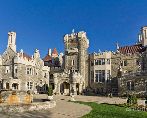 Casa Loma Poster featuring the photograph Casa Loma by Les Palenik