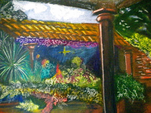 Casa Luna Poster featuring the painting Casa Luna by Debi Starr