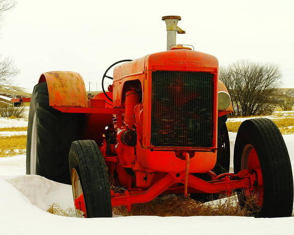 Tractors Poster featuring the photograph Case Tractor by Jeff Swan