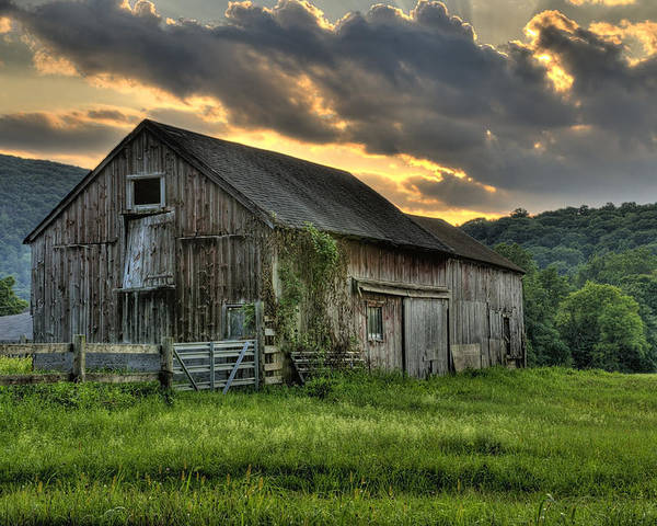 Farms And Barns Poster featuring the photograph Casey's Barn by Thomas Schoeller