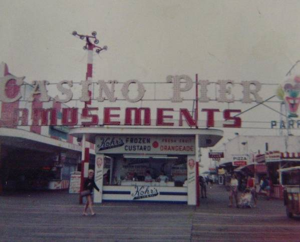 Seaside Heights Poster featuring the photograph Casino Pier Amusements Seaside Heights Nj by Joann Renner