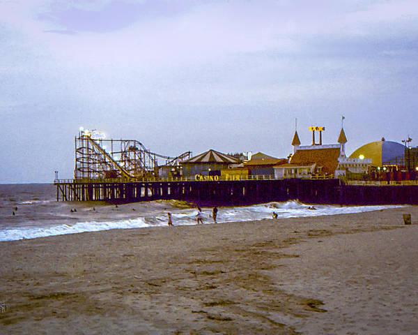 Casino Poster featuring the photograph Casino Pier Boardwalk - Seaside Heights Nj by Glenn Feron