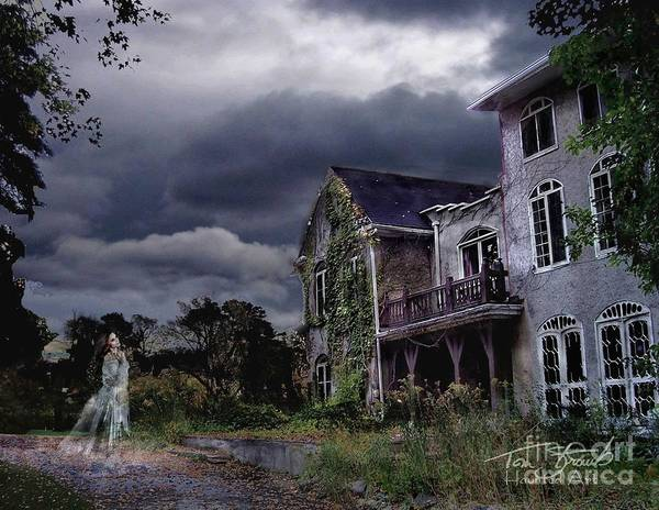 Ghost Poster featuring the photograph Castle House by Tom Straub