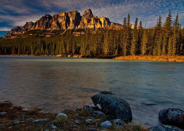 Alberta Poster featuring the photograph Castle Mountain by Craig Brown