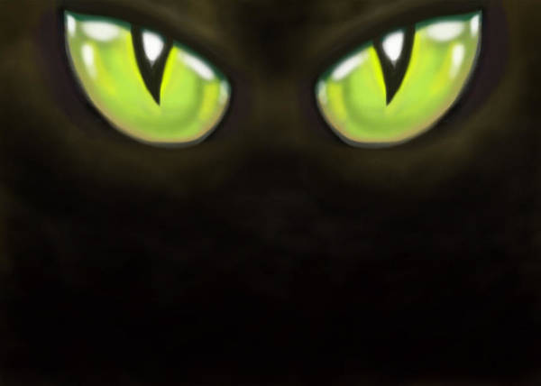 Eye Poster featuring the digital art Cat Eyes by Kevin Middleton
