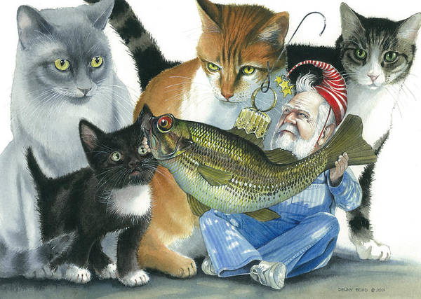 Santa Poster featuring the painting Catatomic by Denny Bond