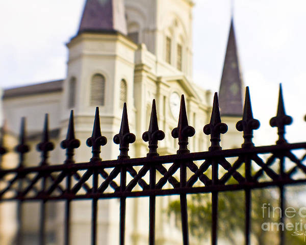 St. Louis Cathedral Poster featuring the photograph Cathedral Basilica by Scott Pellegrin