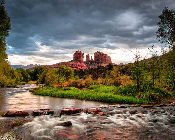 Cathedral Crossing Poster featuring the photograph Cathedral Crossing Red Rock by Linda Pulvermacher