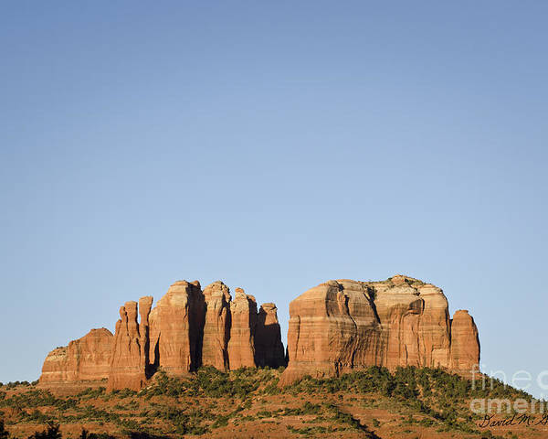 Cathedral Poster featuring the photograph Cathedral Rock Vi by Dave Gordon