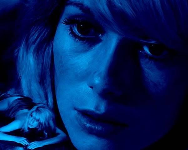Catherine Deneuve Poster featuring the digital art Catherine Deneuve in the film Repulsion by Gabriel T Toro
