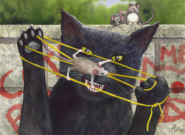 Cat Poster featuring the painting Cats Cradle by Catherine G McElroy