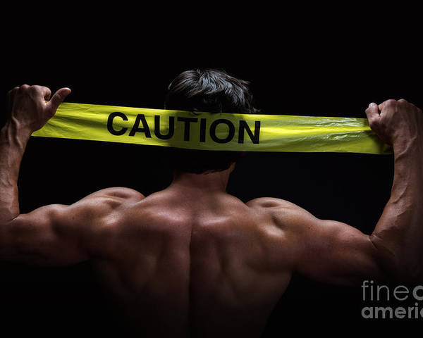 Abs Poster featuring the photograph Caution by Jane Rix