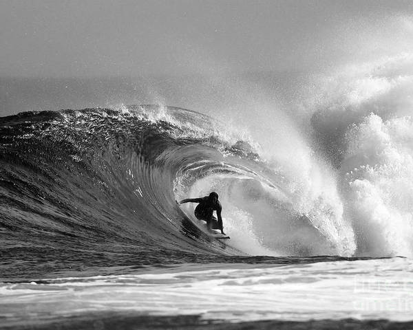 Surf Poster featuring the photograph Caveman by Paul Topp