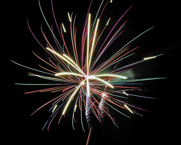 Fireworks Poster featuring the photograph Celebration by Gene McKinley
