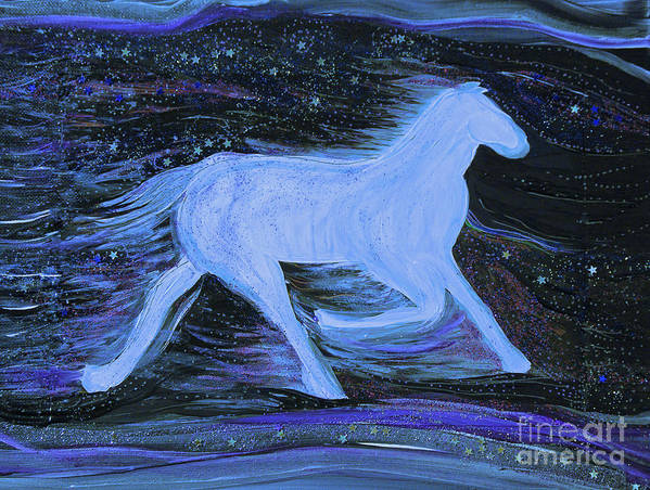 First Star Art Poster featuring the painting Celestial By Jrr by First Star Art
