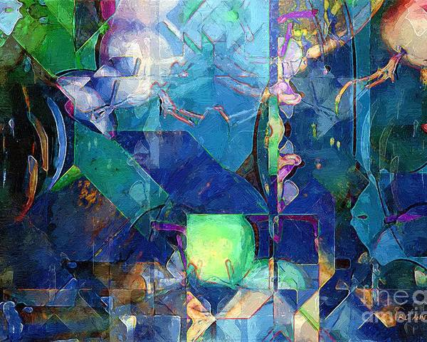 Abstract Poster featuring the painting Celestial Sea by RC deWinter